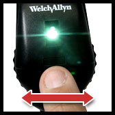 welch allyn coaxial ophthalmoscope with aperture selection disc