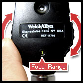 welch allyn coaxial ophthalmoscope lens selection disc