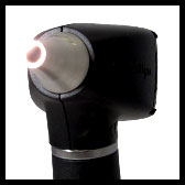 welch allyn diagnostic otoscope with halogen and fibre optics